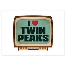 Retro I Heart Twin Peaks Invitations
