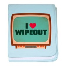 Retro I Heart Wipeout Infant Blanket