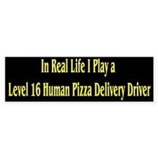 In real life I play a lvl 16 human pizza driver