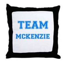 TEAM MCKENZIE Throw Pillow