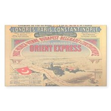 The Orient Express Rectangle Decal