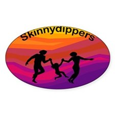 Skinnydipper Oval Decal