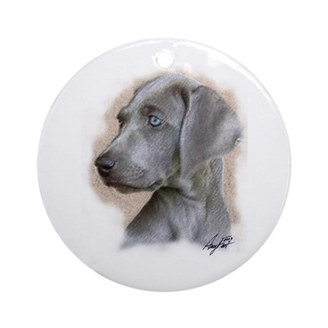 Puppy Blue Eyes Ornament (Round)