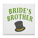 Bride's Brother (hat) Tile Coaster