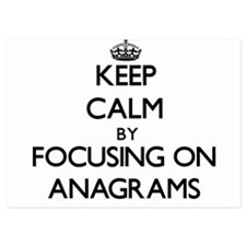 Keep Calm by focusing on Anagrams Invitations