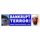 Terror-Free Oil Bumper Car Sticker