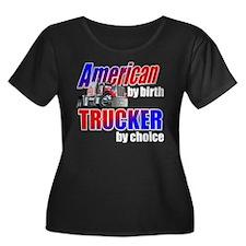 American Trucker Plus Size T-Shirt