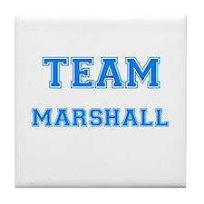 TEAM MARSHALL Tile Coaster