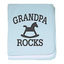 Grandpa Rocks baby blanket