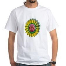 Shirt with Yellow Daisy Logo