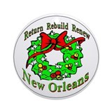 Rebuild New Orleans Ornament (Round)