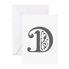 D-pre gray Greeting Cards