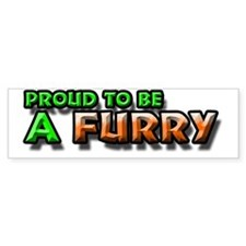Furry Pride Bumper Bumper Sticker