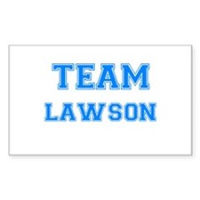 TEAM LAWSON Rectangle Decal