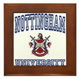 NOTTINGHAM University Framed Tile