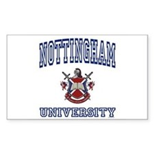 NOTTINGHAM University Rectangle Decal