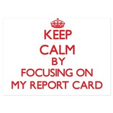 Keep Calm by focusing on My Report Car Invitations