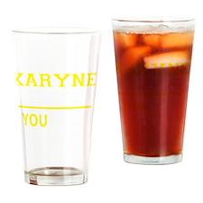 Funny Karyn Drinking Glass