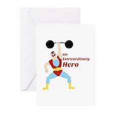 Extraordinary Hero Greeting Cards
