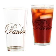 Gold Paula Drinking Glass