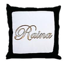 Gold Raina Throw Pillow