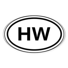 HW Car Oval Decal