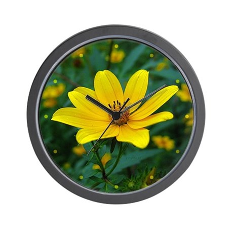 Tickseed Sunflower Wall Clock