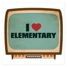 Retro I Heart Elementary Invitations