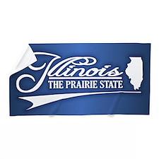 Illinois State of Mine Beach Towel