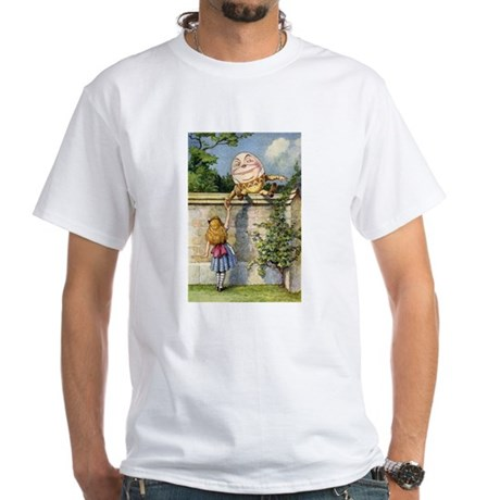 ALICE & HUMPTY DUMPTY White T-Shirt