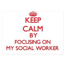 Keep Calm by focusing on My Social Wor Invitations