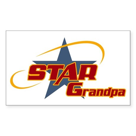 Star Grandpa Rectangle Sticker