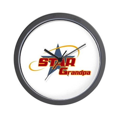 Star Grandpa Wall Clock