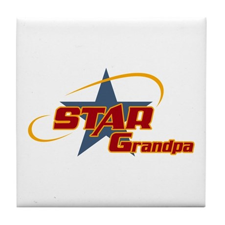 Star Grandpa Tile Coaster