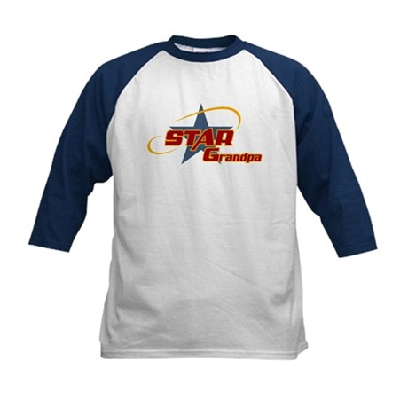 Star Grandpa Kids Baseball Jersey