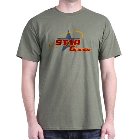 Star Grandpa Dark T-Shirt