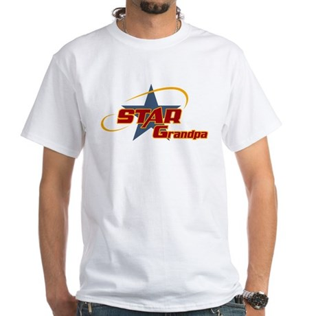 Star Grandpa White T-Shirt