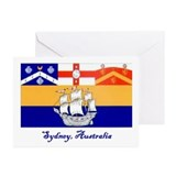 Sydney, AU Flag Greeting Cards (Pk of 10)