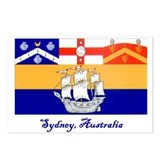 Sydney, AU Flag Postcards (Package of 8)