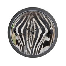 "Zebra ""Meaningful Eye Contact"" Wall Clock"