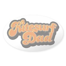 Kite Surf Dad - Clean - Oval Decal