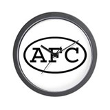 AFC Oval Wall Clock