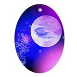 Oval Ornament Moon design