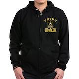 Army dad Zip Hoodie (dark)