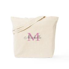 Elegant Script Typography Monogrammed Tote Bag