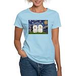 Starry Night / 2 Bolognese Women's Light T-Shirt