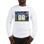 Starry Night / 2 Bolognese Long Sleeve T-Shirt