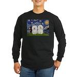 Starry Night / 2 Bolognese Long Sleeve Dark T-Shir