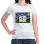 Starry Night / 2 Bolognese Jr. Ringer T-Shirt