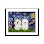Starry Night / 2 Bolognese Framed Panel Print